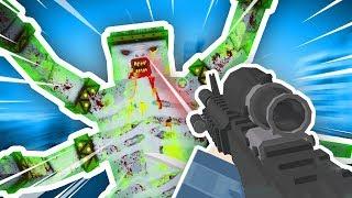 TOXIC ZOMBIE BOSS vs BEST GUN IN THE WALKING ZOMBIE (The Walking Zombie: Dead City Funny Gameplay)