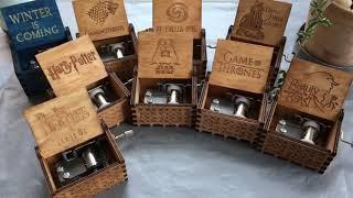 Boite a musique en bois   Musique box