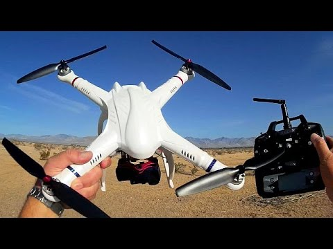 FreeX Low Cost GPS Gimbal Camera Drone Flight Test Review