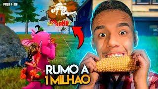 🔥FREE FIRE: RUMO AO 1 MILHÃO ATÉ O FIM DO ANO🔥 OH O MORANGO!!!