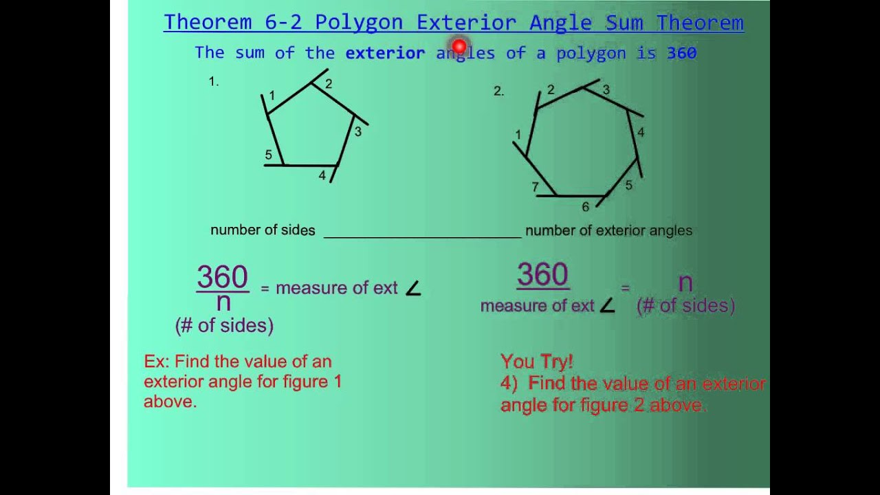 Attractive 6 1 Polygon Angle Sum Theorem   YouTube