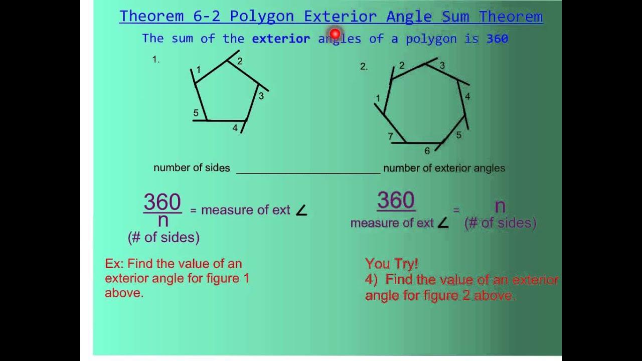 6-1 Polygon Angle Sum Theorem - YouTube