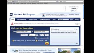 How to Set up Alerts on the National Rail Enquiries website