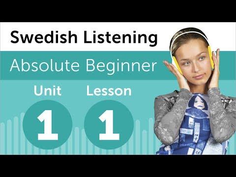 Luyện nghe tiếng Thụy Điển A1- Bài 1: Tại hiệu sách