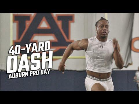 Every 40-yard dash at Auburn Pro Day 2019
