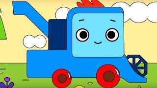 Мультфильм про машинки -  Грузовичок Пик - Раскраска - Голодная курочка