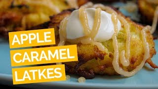 Apple Latke With Sour Cream, Bourbon Caramel Sauce Recipe