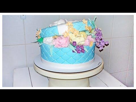 Торт Коробка С Цветами Тренд 2019! Сборка и Оформление   Cake Box With Flowers