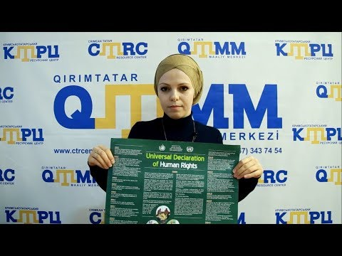 Crimean Tatars joined the Stand up for Human Rights campaign (video 38)