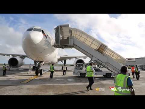 "Air Seychelles celebrates the registration of the first Airbus A330 aircraft ""Aldabra"""