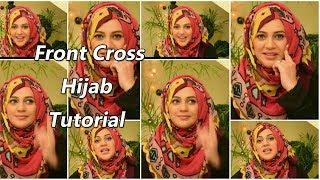 Front Cross Hijab | Urooj Hijabeaze
