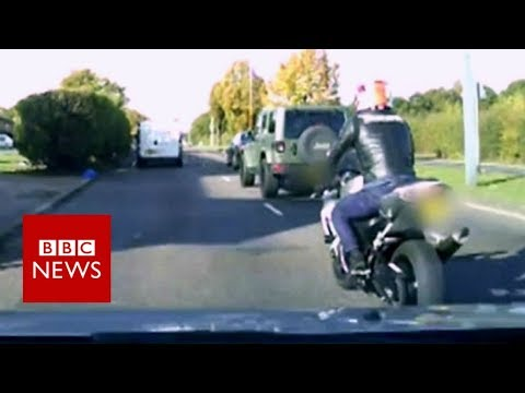 Andy Carroll robbery: Motorbike chase captured on video - BBC News