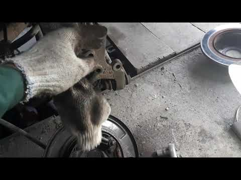 Chevrolet Epica замена задней ступицы, замена колодок ручника