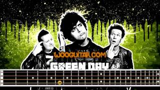 """Boulevard Of Broken Dreams"" Green Day Bass Cover Tutorial Tabs"
