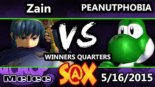 Spring Arcadian - Peanutphobia (Yoshi) Vs. Zain (Marth) SSBM Winners Quarters - Smash Melee