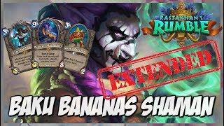 Baku Bananas Shaman   Extended Gameplay   Hearthstone   Rastakhan's Rumble