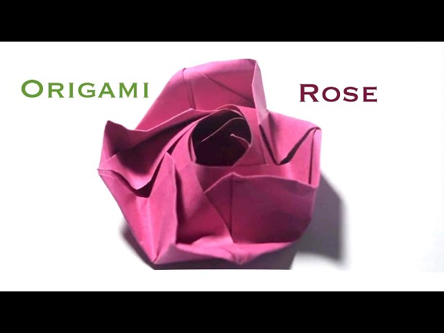 How to fold a Beautiful Origami Paper Rose Flower, the