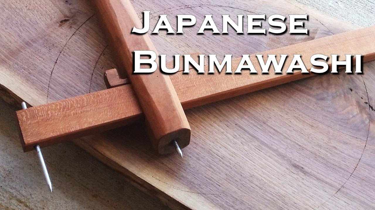 woodworking, a japanese bunmawashi (beam compass) - youtube