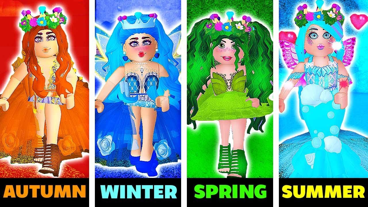 ??SEASONS OUTFIT TRANSFORMATIONS IN ROYALE HIGH!?⛄ Roblox Royale High School | Roblox Roleplay 4