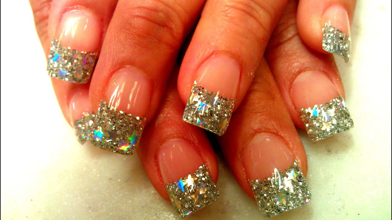 Shining stars design acrylic nails step by step youtube prinsesfo Images