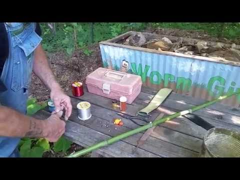 How To Make A Cane/Bamboo Fishing Pole   EASY DIY