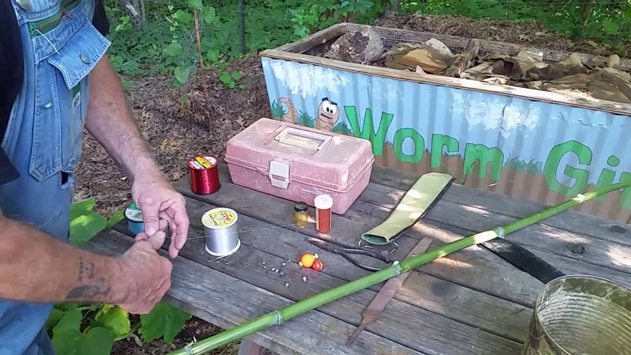 How To Make A Canebamboo Fishing Pole Easy Diy Youtube