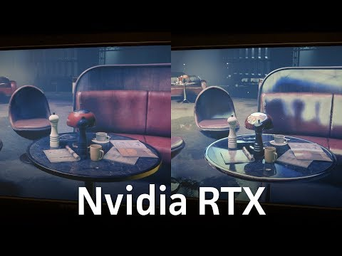 Checking out Nvidia's new RTX real-time ray tracing demo at E3 2018
