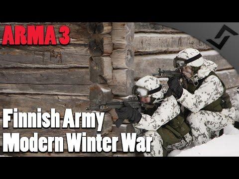 Modern Winter War - ARMA 3 - Finnish Army Gameplay - 1st Person Gameplay