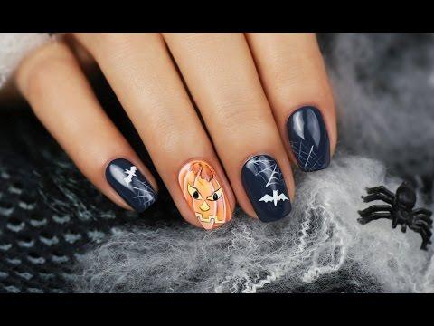 Halloween Nail Art Design With Royal Gel Step By Step Nail Art