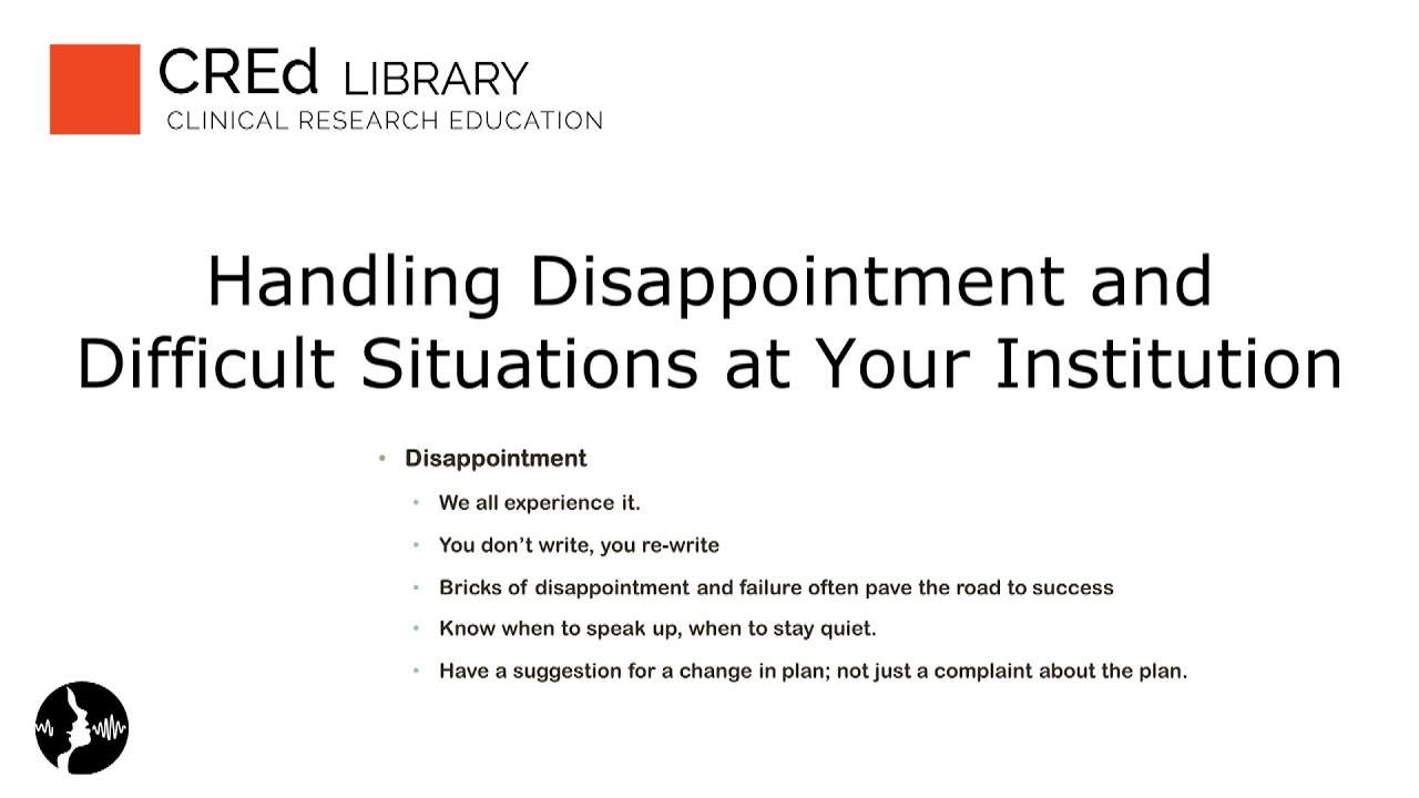 research careers handling difficult situations at your research careers handling difficult situations at your institution