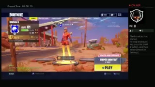 Fortnite game play first stream