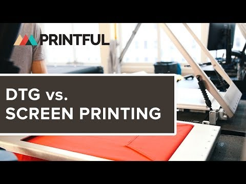 DTG vs. Screenprinting - Printful
