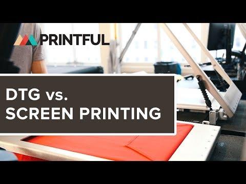 770702ce DTG vs. Screen Printing | Blog - Printful