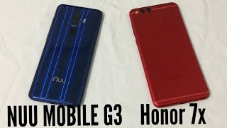 NUU Mobile G3 vs Honor 7x Speed Test Comparison