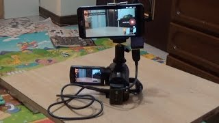camcorder broadcast on android phone with facebook live stremaing