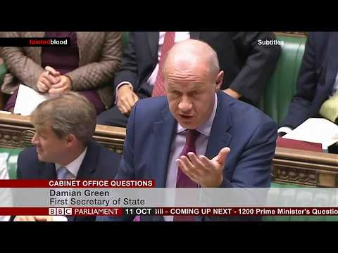 House of Commons : Cabinet Office Question - 11th October 2017