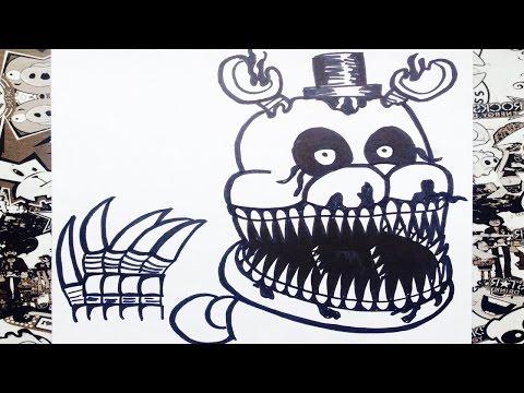 Como Dibujar A Nightmare De Five Nights At Freddy S 4 How
