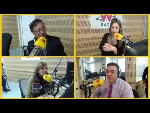 Gustavo Petro y su fórmula vicepresidencial Ángela María Robledo en La W