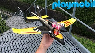Rocket powered Playmobil Airplane Glider !! Amazing Air Launch