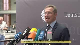 Statements zur Sitzung des Innenausschusses zum Fall Lübcke in Berlin am 26.06.19