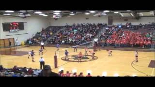 Amazing Volleyball Spike - spiked a girl and a fan on sideline