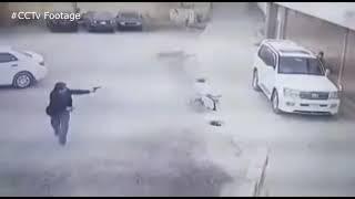 Assassination attempt caught on CCTV । Real gun fights