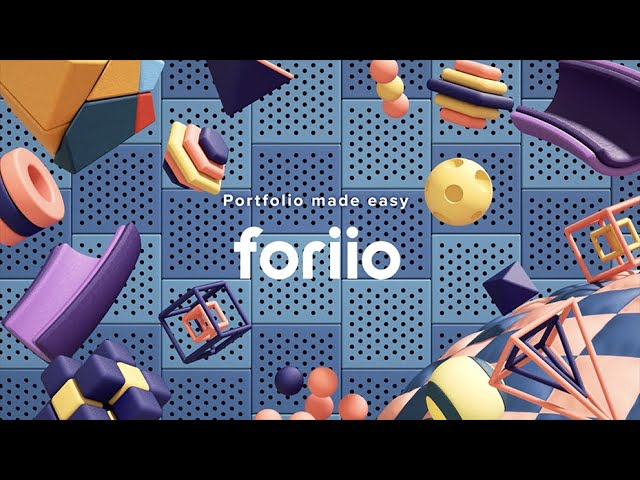 foriio - Portfolio made easy