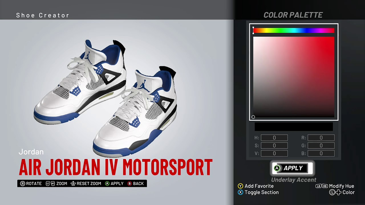 3be815cc7674a4 NBA 2K19 Shoe Creator - Air Jordan 4