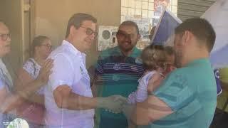 Danilo em caminhada no Distrito de Flores com o vereador Girleudo, vice-prefeito Magela e amigos