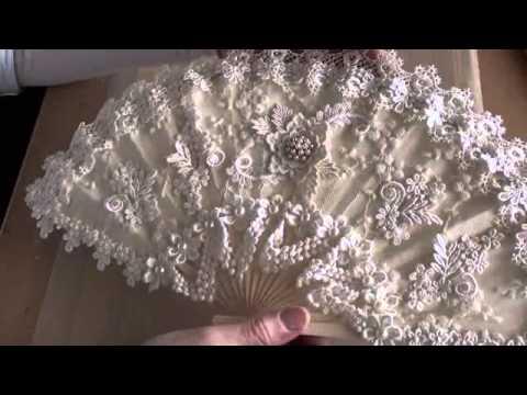 Altered Vintage lace fan