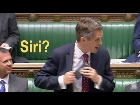 UK Defense Secretary gets 'heckled' by Siri during Commons statement