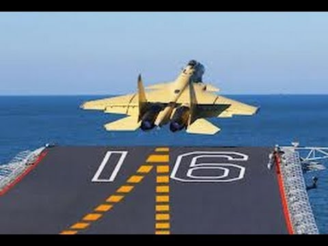 J-15 fully Loaded successful Takeoff and Landing tests on Liaoning aircraft carrier