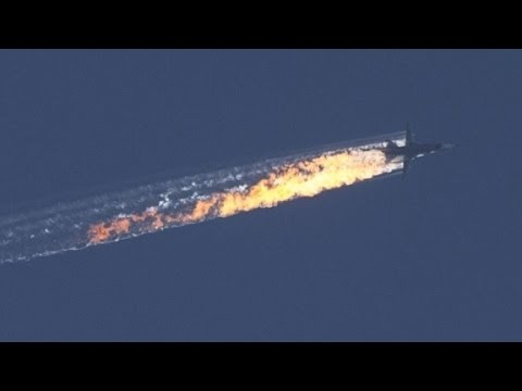 New video shows Russian plane crashing after shot down