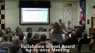 Tullahoma School Board Meeting 04-15-2019